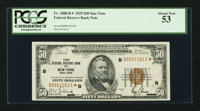 Fr. 1880-B* $50 1929 Federal Reserve Bank Note. PCGS About New 53