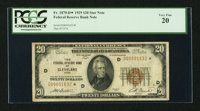 Fr. 1870-D* $20 1929 Federal Reserve Bank Note. PCGS Very Fine 20
