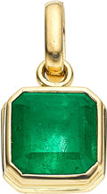 Estate Jewelry:Pendants and Lockets, Colombian Emerald, Gold Pendant. ...