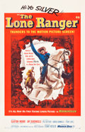 "Movie Posters:Western, The Lone Ranger (Warner Brothers, 1956). One Sheet (26.75"" X41.5"").. ..."
