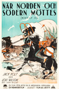 "Movie Posters:Western, North of 36 (Paramount, 1925). Swedish One Sheet (23.5"" X 35.5"").. ..."