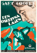"Movie Posters:Western, The Spoilers (Paramount, 1930). Swedish One Sheet (27.5"" X 39.5"").. ..."