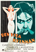 "Movie Posters:Drama, White Woman (Paramount, 1934). Swedish One Sheet (27.5"" X 39.5"")....."