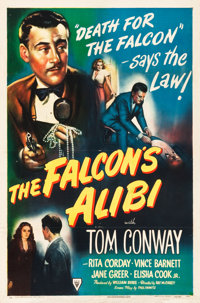 "The Falcon's Alibi (RKO, 1945). One Sheet (27"" X 41"")"