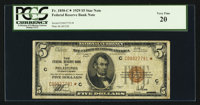 Fr. 1850-C* $5 1929 Federal Reserve Bank Note. PCGS Very Fine 20