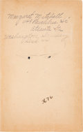"Movie/TV Memorabilia:Autographs and Signed Items, A Margaret Mitchell Personally Owned ""Latin Composition"" Book...."
