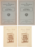 "Movie/TV Memorabilia:Documents, A Group of Booklets Related to Margaret Mitchell and ""Gone With The Wind,"" 1936, 1950...."