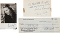 "Movie/TV Memorabilia:Autographs and Signed Items, A Group of Autographs Related to ""Gone With The Wind,"" 1930s...."