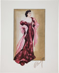 "Movie/TV Memorabilia:Costumes, A Set of Limited Edition Signed and Numbered Costume Design Sketches by Walter Plunkett from ""Gone With The Wind,"" Circa 1970s..."
