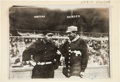 Baseball Collectibles:Photos, 1911 Chief Bender & Chief Meyers Original News Photograph byBain....