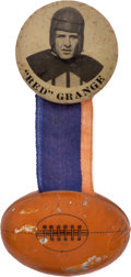 Football Collectibles:Others, Circa 1925 Red Grange Pinback Button. ...