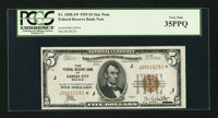 Fr. 1850-J* $5 1929 Federal Reserve Bank Note. PCGS Very Fine 35PPQ