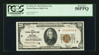 Fr. 1870-A* $20 1929 Federal Reserve Bank Note. PCGS About New 50PPQ