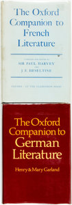 Books:Reference & Bibliography, Sir Paul Harvey and J. E. Heseltine. The Oxford Companion toFrench Literature. [and:] Henry and Mary Garland.... (Total: 2Items)