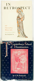 Books:Reference & Bibliography, C. R. Dodwell. The Canterbury School of Illumination,1066-1200. Cambridge: University Press, 1954. Publisher'sclot... (Total: 2 Items)