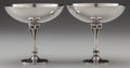 Silver Holloware, Continental:Holloware, A PAIR OF GEORG JENSEN SILVER COMPOTES, Designed by Harald Nielsen,Copenhagen, Denmark, circa 1930-1939. Marks: GEORG JEN...(Total: 2 Items)