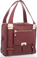 """Luxury Accessories:Accessories, Jimmy Choo Burgundy Leather Shoulder Bag. Very Good Condition . 11.5"""" Width x 12"""" Height x 5.5"""" Depth, 8"""" Handle Drop..."""