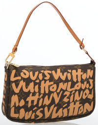Louis Vuitton by Stephen Sprouse Monogram Graffiti Canvas Pochette Bag by Stephen Sprouse Excellent Condition</...