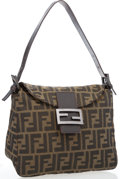 "Luxury Accessories:Accessories, Fendi Brown Monogram Zucca Canvas Shoulder Bag . Good to VeryGood Condition. 9.5"" Width x 7.5"" Height x 3.5"" Depth,7..."