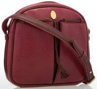 "Cartier Burgundy Grained Leather Shoulder Bag Good Condition 7.5"" Width x 7"" Height x 1.5"" Depth"