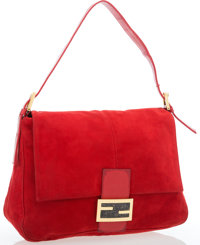 "Fendi Red Mama Baguette Good Condition 10.5"" Width x 8"" Height x 3"" Depth"