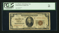 Fr. 1870-J* $20 1929 Federal Reserve Bank Note. PCGS Fine 15