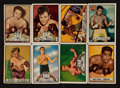 Boxing Cards:General, 1951 Topps Ringside Boxing Collection (142). ...