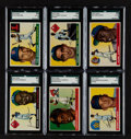 Baseball Cards:Sets, 1955 Topps Baseball Partial Set (161/206). ...