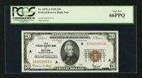 Fr. 1870-A $20 1929 Federal Reserve Bank Note. PCGS Gem New 66PPQ