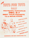 Memorabilia:Poster, Toys For Tots Poster by Jack Kirby (Marvelmania, 1969)....