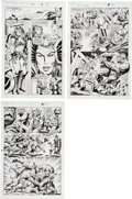 Original Comic Art:Panel Pages, Bruce Zick and Steve Montano Thor #460 Pages 8, 12, and 14 Original Art Group (DC, 1993).... (Total: 3 Original Art)