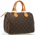 "Luxury Accessories:Bags, Louis Vuitton Classic Monogram Canvas Speedy 25 Bag. GoodCondition. 9.5"" Width x 7"" Height x 6"" Depth, 3"" HandleDrop..."