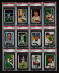 Baseball Cards:Lots, 1951 Bowman Baseball PSA Graded Group (12). ...