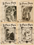 Books:Periodicals, [Illustrated Periodicals]. [Cartoons]. Four Issues of Le Frou-Frou. 1903. ... (Total: 4 )