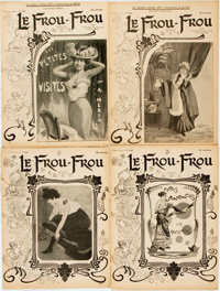 [Illustrated Periodicals]. [Cartoons]. Four Issues of Le Frou-Frou. 1903