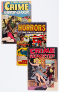 Golden Age (1938-1955):Crime, Comic Books - Assorted Golden Age Crime Comics Group (Various Publishers, 1950s) Condition: Average FR....