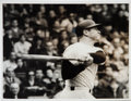 Baseball Collectibles:Photos, 1967 Mickey Mantle 500th Home Run News Photograph, PSA/DNA Type1....