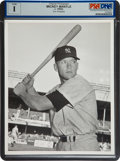 Baseball Collectibles:Photos, 1952 Mickey Mantle Original Photograph by Don Wingfield, PSA/DNAType 1....