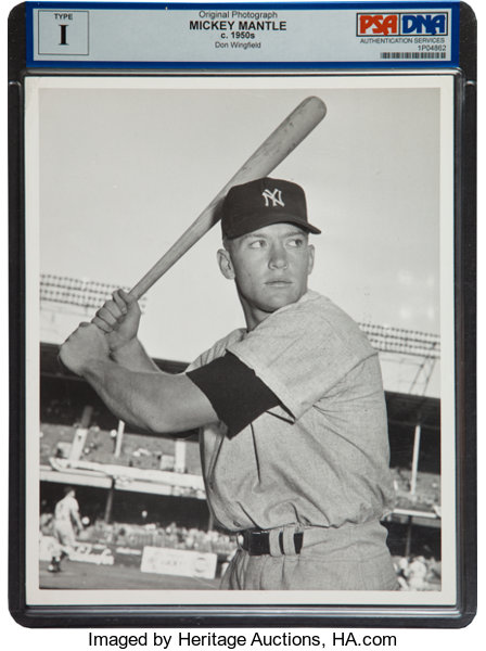 1952 Mickey Mantle Original Photograph By Don Wingfield Psadna