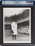 Baseball Collectibles:Photos, 1948 Babe Ruth Day Original News Photograph, PSA/DNA Type 1....