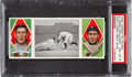 Baseball Cards:Singles (Pre-1930), 1912 T202 Hassan Davy Jones' Great Slide Delahanty/Jones PSANM-MT 8 - Pop Three, None Higher....