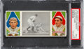 Baseball Cards:Singles (Pre-1930), 1912 T202 Hassan Close At Third Carrigan/Wagner PSA NM+ 7.5- Pop One, None Higher! ...