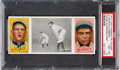 Baseball Cards:Singles (Pre-1930), 1912 T202 Hassan Chase Guarding First Gibson/Leifield PSANM-MT 8 - Highest Graded Example!...