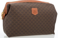 "Celine Brown Monogram Toiletry Travel Bag Good to Very Good Condition 11"" Width x 8.5"" Height x 3"" D"
