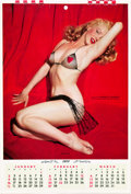 "Movie Posters:Miscellaneous, Marilyn Monroe by Tom Kelly (1955). Calendar (4 Pages, 8.5"" X12.5""). ..."