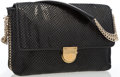 "Luxury Accessories:Accessories, Stella McCartney Black Vegan Snakeskin Shoulder Bag. GoodCondition. 11.5"" Width x 7"" Height x 2"" Depth, 8.5""Shoulder..."