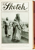 Books:Periodicals, [Periodical]. The Sketch. Issues spanning from January-June 1912 of this bound periodical. Contemporary half morocco...
