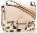 "Luxury Accessories:Accessories, Reed Krakoff Beige Leather with Spotted Pony Hair Mini CrossbodyBag. Good Condition. 8"" Width x 6"" Height, x 2""Dep..."