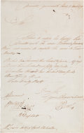 Autographs:Non-American, William Bligh Endorsement Signed...
