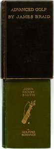 Books:Sporting Books, [Golf] Pair of Books about Golf. Includes James Braid. AdvancedGolf. London: Methuen, [1908]. Second edition. [... (Total: 2Items)